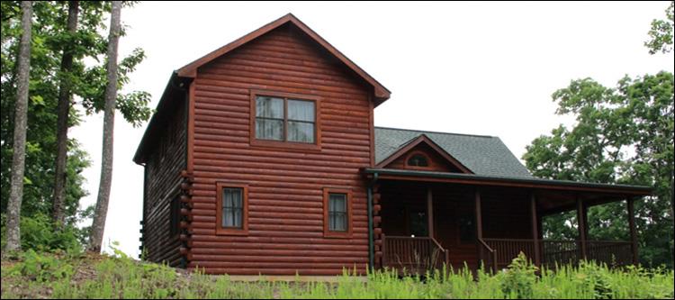 Professional Log Home Borate Application